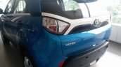 Tata Nexon spotted at dealership in base XE trim rear three quarters