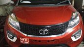 Tata Nexon spotted in basement IT park front view