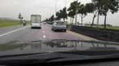Thai-spec Toyota C-HR rear three quarters in motion spy shot