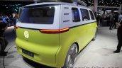 VW I.D Buzz concept rear quarter showcased at the IAA 2017