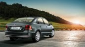 VW Vento rear three quarters