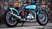 Vintage Royal Enfield Classic 500 Puranam Designs rear right quarter