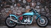 Vintage Royal Enfield Classic 500 Puranam Designs right side