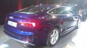 2017 Audi S5 Sportback blue rear three quarters right side