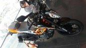 2017 KTM 390 Duke black colour front left quarter