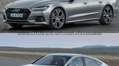 2018 Audi A7 Sportback vs. 2014 Audi A7 Sportback front three quarters left side
