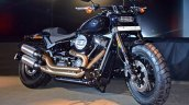 2018 Harley Davidson Fat Bob front three quarters