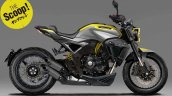2018 Honda CB1000R scrambler Young Machine Rendering