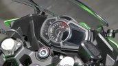 2018 Kawasaki Ninja 400 speedometer dashboard at the Tokyo Motor Show