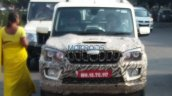 2018 Mahindra Scorpio facelift spy picture front