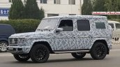 2018 Mercedes G-Class front three quarters left side spy shot