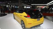2018 Nissan Leaf rear three quarters left at the Tokyo Motor Show