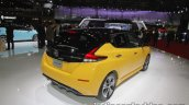 2018 Nissan Leaf rear three quarters right at the Tokyo Motor Show