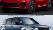 2018 Range Rover Sport vs. 2014 Range Rover Sport front three quarters