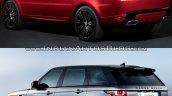 2018 Range Rover Sport vs. 2014 Range Rover Sport rear three quarters left side