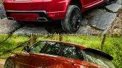 2018 Range Rover Sport vs. 2014 Range Rover Sport rear three quarters