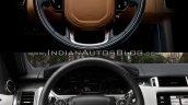 2018 Range Rover Sport vs. 2014 Range Rover Sport steering wheel