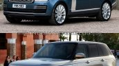 2018 Range Rover vs. 2013 Range Rover front three quarters