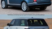 2018 Range Rover vs. 2013 Range Rover rear three quarters