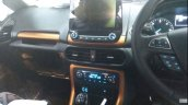 Ford EcoSport facelift spy pictures centre console
