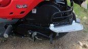 Honda Cliq Review pillion foot plate