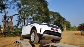 Land Rover Discovery front angle white