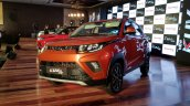 Mahindra KUV100 NXT Fiery Orange front three quarters
