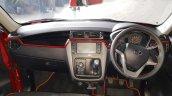 Mahindra KUV100 NXT Red & Black accessorised dashboard
