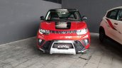 Mahindra KUV100 NXT Red & Black accessorised front