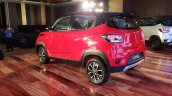 Mahindra KUV100 NXT Red & Black rear three quarters left side