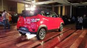 Mahindra KUV100 NXT Red & Black rear three quarters right side