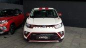 Mahindra KUV100 NXT white accessorised front