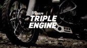 New Triumph Tiger teased engine and front brakes