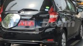 Nissan Note rear three quarters India spy shot