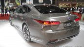 RHD 2018 Lexus LS rear three quarters left side at 2017 Tokyo Motor Show
