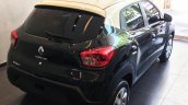 Renault Kwid bicolour rear three quarters elevated view