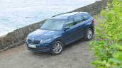 Skoda Kodiaq test drive review front three quarters top
