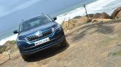 Skoda Kodiaq test drive review front