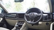 Skoda Kodiaq test drive review interior dashboard angle