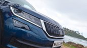 Skoda Kodiaq test drive review nose close up
