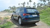Skoda Kodiaq test drive review rear angle