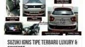 Suzuki Ignis Luxury and Suzuki Ignis Comfort features