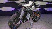 Yamaha Motoroid concept front three quarters at 2017 Tokyo Motor Show