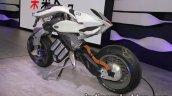 Yamaha Motoroid concept rear three quarters at 2017 Tokyo Motor Show