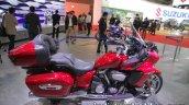 Yamaha Star Venture side saddle seat luggage box at the Tokyo Motor Show