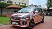 custom Maruti Ertiga front three quarter rose gold image