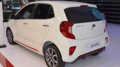 2017 Kia Picanto rear three quarters left side at 2017 Dubai Motor Show