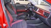 2017 Kia Rio Sedan front seats passenger side view at 2017 Dubai Motor Show