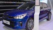 2017 Kia Rio front three quarters left side at 2017 Dubai Motor Show
