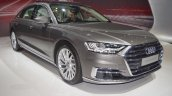 2018 Audi A8 L front three quarters right side at 2017 Dubai Motor Show